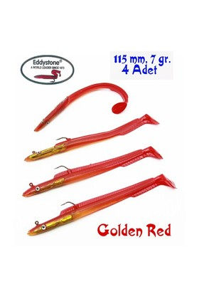 Eddystone Sea Bass Eel Silikon Yem 115mm,7gr, Golden Red
