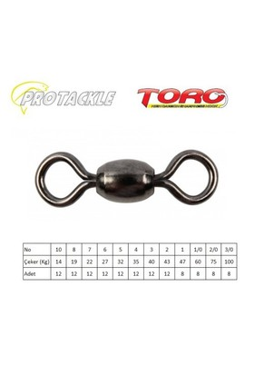 Protackle Toro Crane Swivel Fırdöndü Black Nikel No:2/0