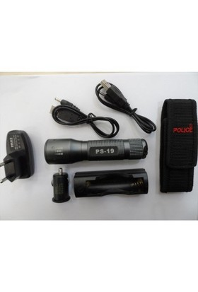 Police Ps-19 Cree Power Led Zoomlu El Feneri Şarjlı