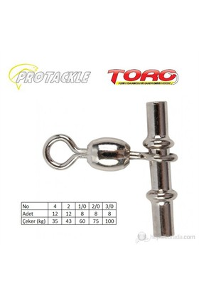 Protackle Toro Crossline Swivel Kıstırma Fırdöndü Black Nikel