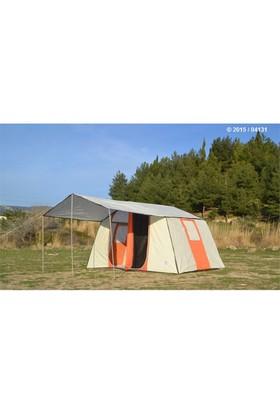 Tunç Dıştan Kurmalı - İki Odalı Kamp Çadırı