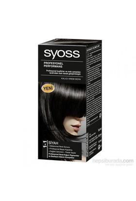 Syoss 1-1 Siyah Saç Boyası