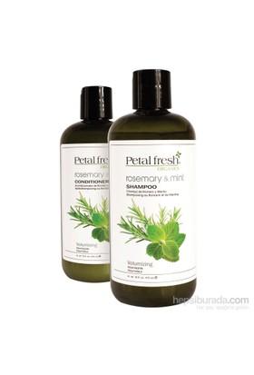 Petal Fresh İnce Telli Saç Dökülme Önleyici Organik Bakım Seti 2'Li Set 950Ml