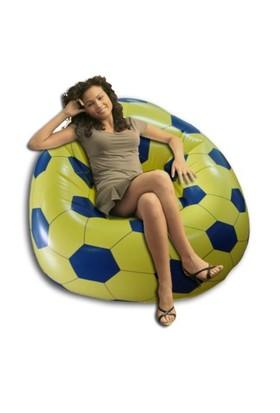 Delta Sarı & Lacivert Futbol Topu Desenli Taraftar Koltuğu