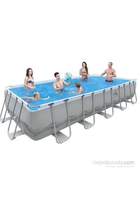 Jilong Hazır Havuz Prefabrik Dikdörtgen Çelik 540X274x122