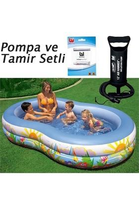 İntex 56490 Şişme Havuz Cennet Havuz Desenli