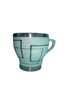 Andoutdoor İçi Çelik Dışı Desenli Seramik Kupa Mug And362