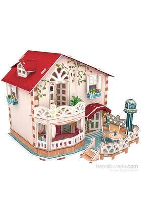 Cubic Fun 3D 114 Parça Puzzle Holiday Bungalow Dollhouse