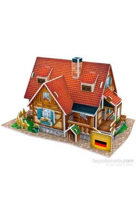 Cubic Fun 3D Alman Köy Evi Puzzle (37 Parça)
