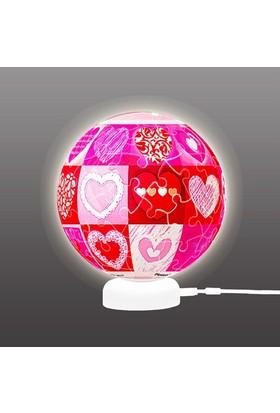 Pintoo Aşk 3D Işıklı Küre Puzzle 60 Parça