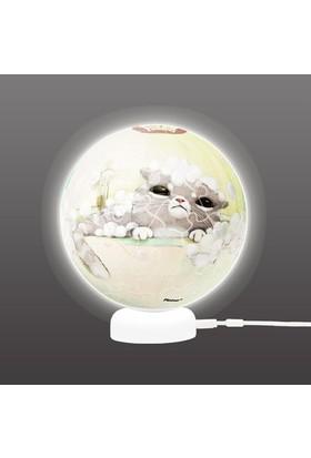 Pintoo Mumu 3D Işıklı Küre Plastik Puzzle 60 Parça