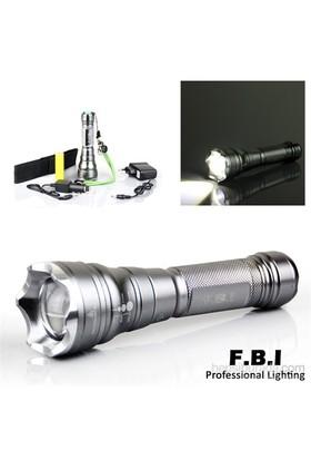 F.B.I Zoom Pompalı Şarjlı Fener Seti - F-C7BG