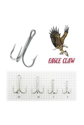 Eagle Claw L777 (4X) Laser Sharp Beyaz Üçlü İğne 5 Adet No:2/0