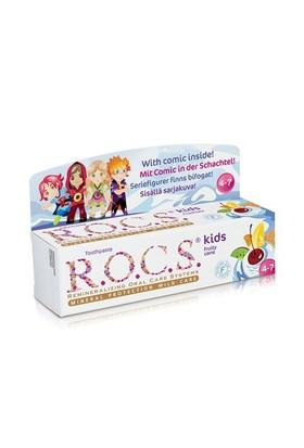 Rocs Kids Floridsiz Meyve Külahı Diş Macunu (4-7 Yaş)