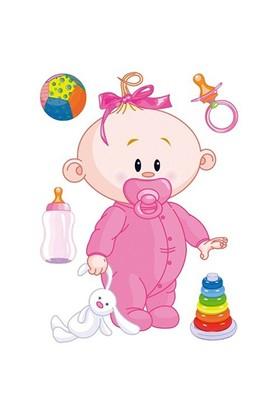 Artikel Fosforlu Duvar Sticker Baby Girl FS-148