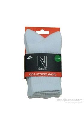 Norfolk Çocuk Çorap Beyaz