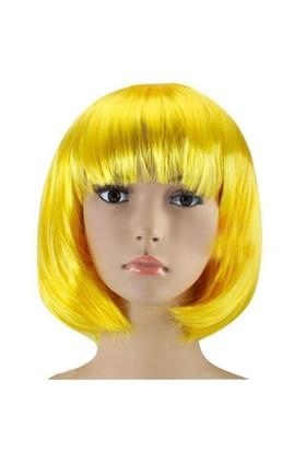 Pandoli Sarı Renk Parti Peruğu Küt Saç