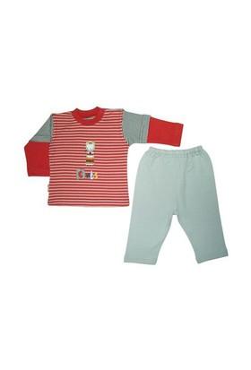 Bebepan Cats Çizgili Pijama Takımı