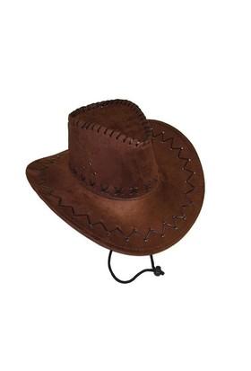Pandoli Yetişkin Nubuk Kovboy Şapkası Kahverengi