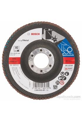 Bosch - Flap Zımpara Diski - 115 Mm, 22,23 Mm, 60 Kum