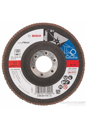 Bosch - Flap Zımpara Diski - 115 Mm, 22,23 Mm, 120 Kum