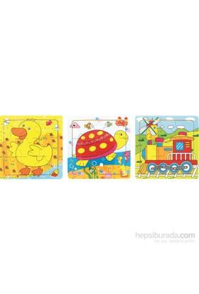 Bu-Bu Ahşap Puzzle 15X15x0,6 Cm Bubu00115