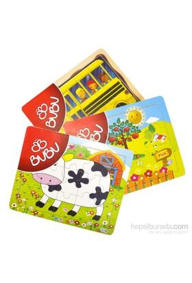 Bu-Bu Ahşap Puzzle 25X20cm Bubu-Ap0005