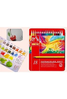 Caran D'ache Supracolor 18 Renk Aquarell Boya Kalemleri