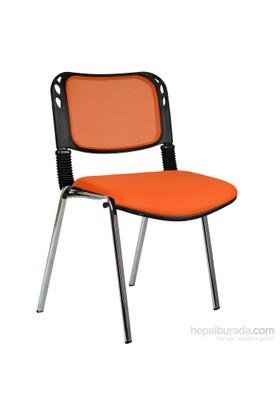 Bürocci Fileli Kromajlı Form Sandalye 2016P0549