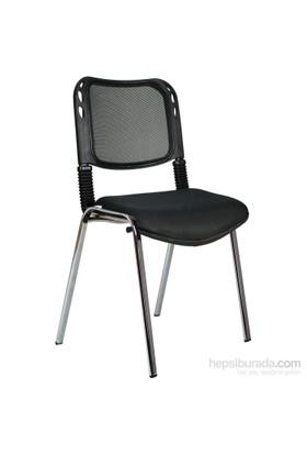 Bürocci Fileli Kromajlı Form Sandalye 2016P0541