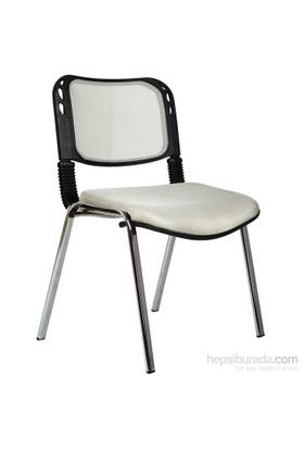 Bürocci Fileli Kromajlı Form Sandalye 2016P0546