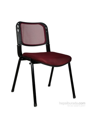 2016R0547 - Bürocci Fileli Form Sandalye - Bordo