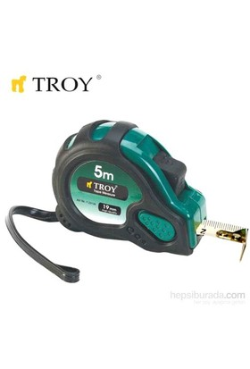 Troy 23122 Stoperli Şerit Metre (2Mx16mm) Mıknatıslı