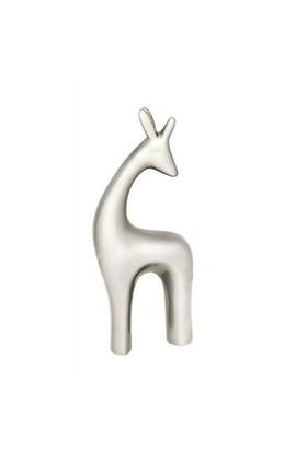 GardenLife Dekoratif Bahçe Süsü - Zürafa Obje Gümüş