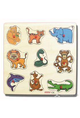 Ekoplay Vahşi Hayvanlar Ahşap Yapboz (30 x 30 cm)