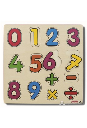 Ekoplay Sayılar Ahşap Yapboz (30 x 30 cm)