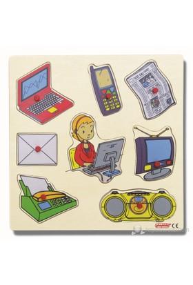 Ekoplay İletişim Araçları Ahşap Yapboz (30 x 30 cm)