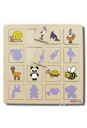 Ekoplay Gölge Oyunu Ahşap Yapboz (30 x 30 cm)