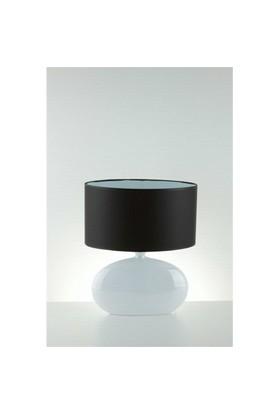Aret Home White Lustre Oval Küçük Abajur