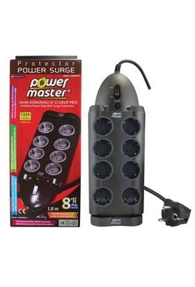 Powermaster Gmx800h 8'Li 1.8 Metre Akım Korumalı Priz