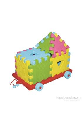 King Kids Arabalı Puzzle 12 Parça