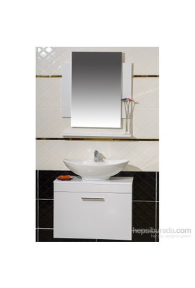 Cihan 75 Cm Banyo Dolabı Beyaz