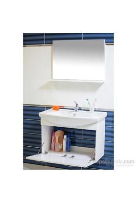 Ilgaz 80 Cm Banyo Dolabı Beyaz