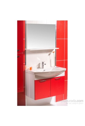 Ilgaz 80 Cm Banyo Dolabı Kırmızı