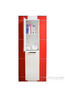Öykü 35 Cm Banyo Boy Dolabı Beyaz