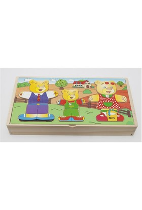Hongji Ahşap 93768 Puzzle Elbise Giydirme Bohjd93768
