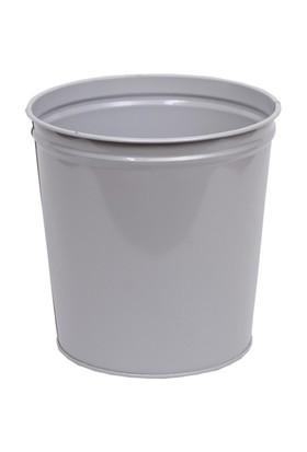 Monkey Metal Silindir Çöp Kovası (CK005) Gri