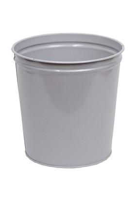 Monkey Metal Silindir Çöp Kovası (CK004) Gri