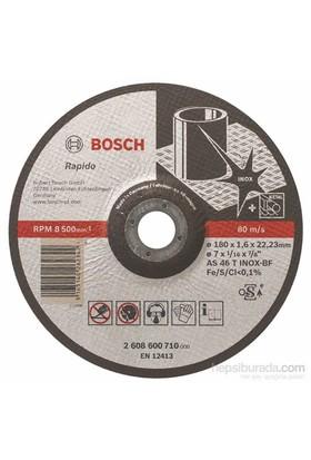 Bosch - Expert Serisi Inox (Paslanmaz Çelik) İçin Bombeli Kesme Diski(Taş)- Rapido - As 46 T Inox Bf, 180 Mm, 1,6 Mm