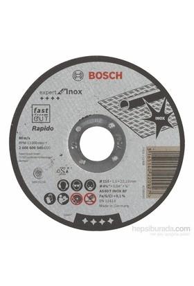 Bosch - Expert Serisi Inox (Paslanmaz Çelik) İçin Düz Kesme Diski (Taş) – Rapido - As 60 T Inox Bf, 115 Mm, 1,0 Mm